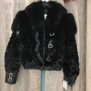 New Fur Stylish Cold with silver hardware